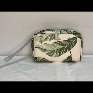 NWT Coach Boxy Cosmetic Case with Banana Leaves